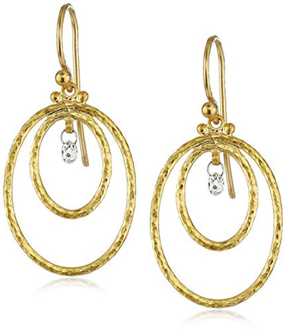 GURHAN Glow Gold Double-Oval Diamond Hoop Earrings (1/5cttw, H-I Color, SI1 Clarity)