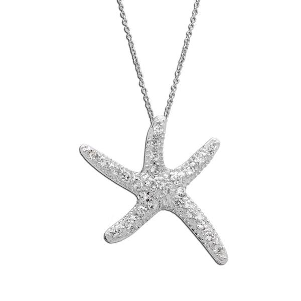 Dancing Pavé Starfish Necklace