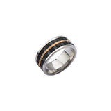Black & Rose Gold Men's Ring
