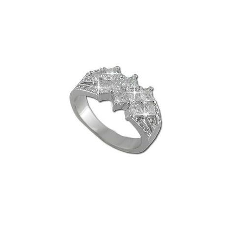 10 Square Cut CZ Ring