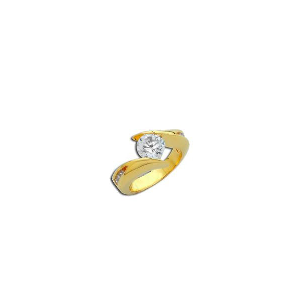 1.25ct Round Gold Bypass Ring