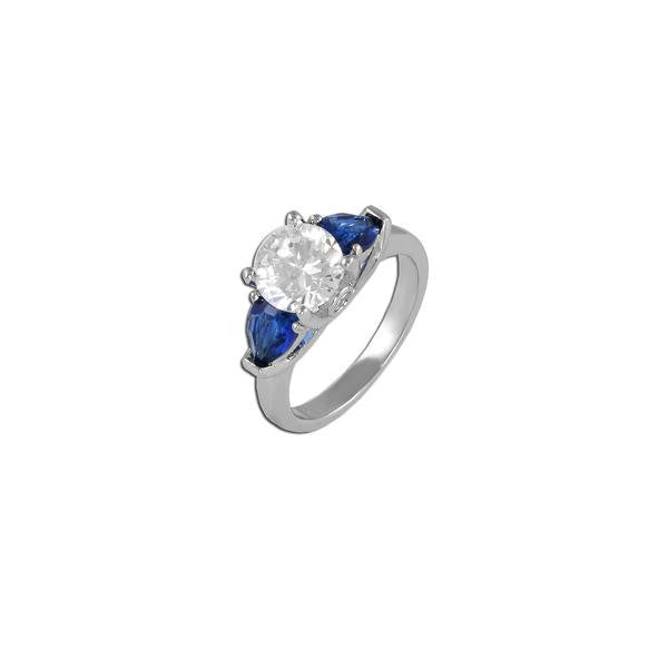 Round With Sapphires Ring