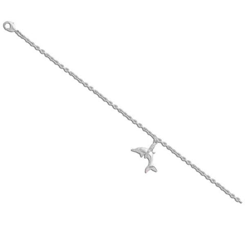 Anklet With Silver Dolphin