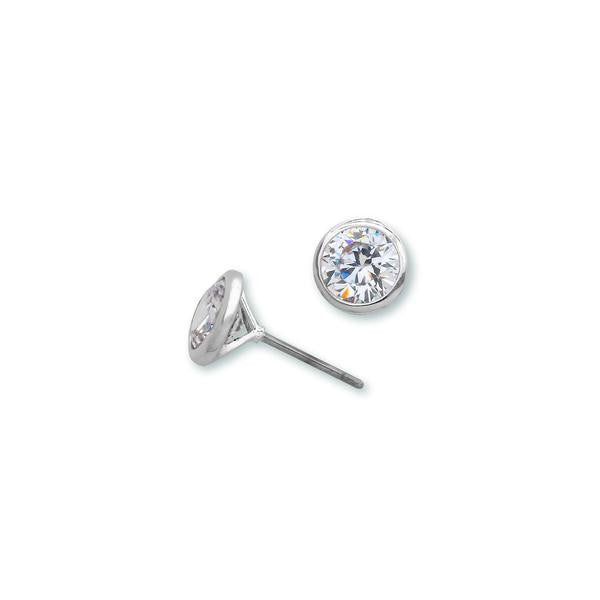 2ct Round Bezel Set Stud Earrings