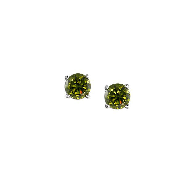 2ct Olivine Stud Earrings