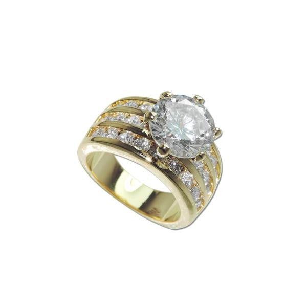 3.5ct Round Center Stone Ring