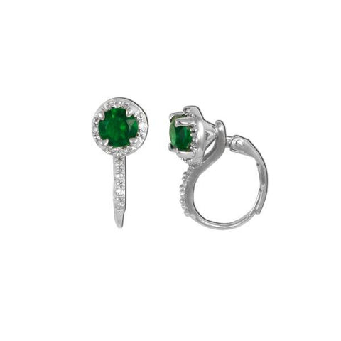 Emerald Lever-Back Earrings