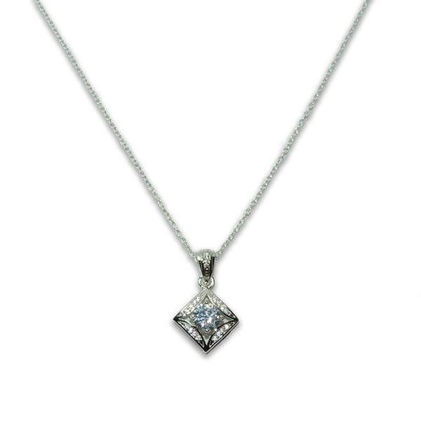 Square Solitaire Necklace
