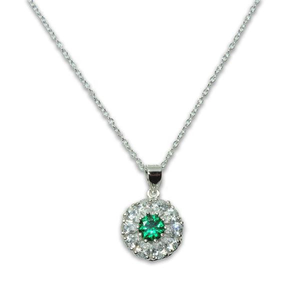 Emerald Flower Necklace