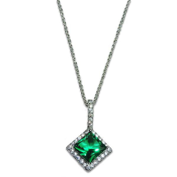 Princess Emerald Drop Necklace