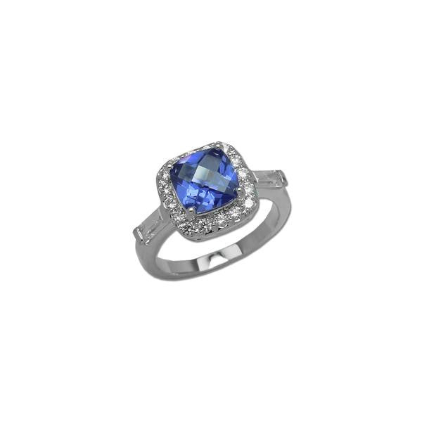 Cushion Cut Tanzanite Ring