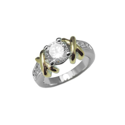 "2 Tone ""X"" Side Ring"