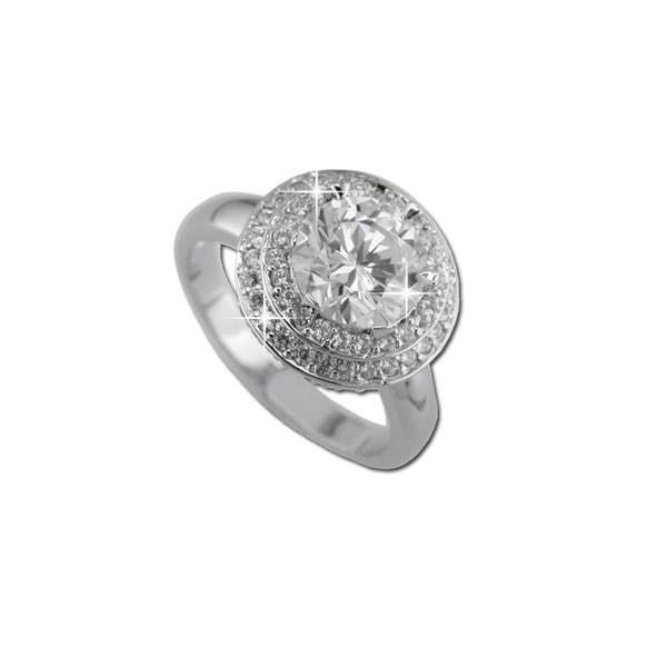 2ct Round W/ Tiered Pavé Frame Ring