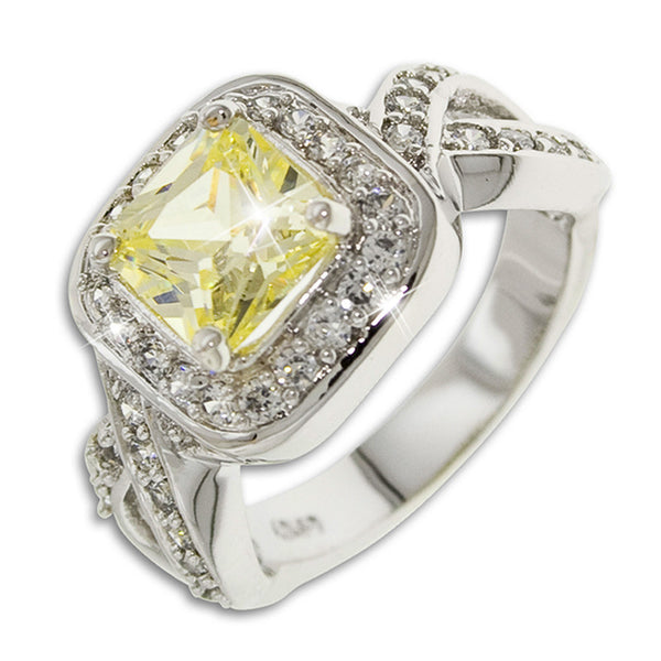 1.25ct Square Cut Canary Ring
