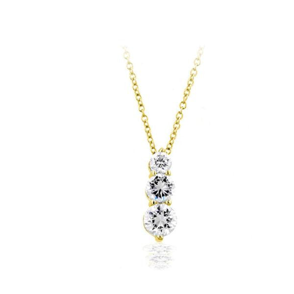 Gold 3 Graduated Rounds Necklace