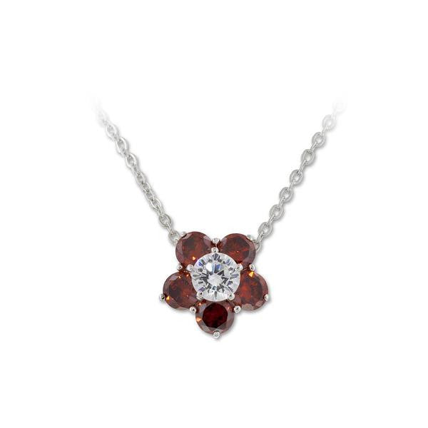 .5ct Floral 2 Tone Necklace