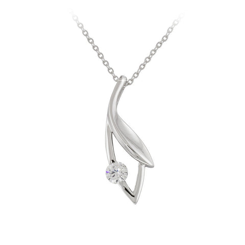 Modern Solitaire Pendant Necklace
