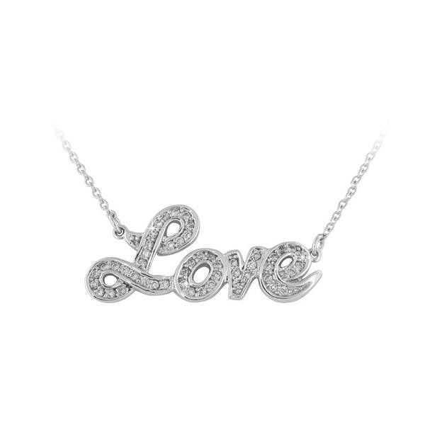 """Love"" Script Necklace"