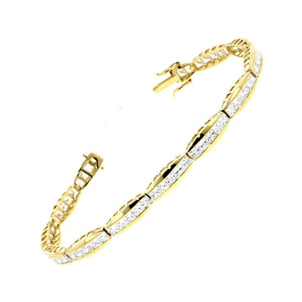 Gold Channel Bracelet