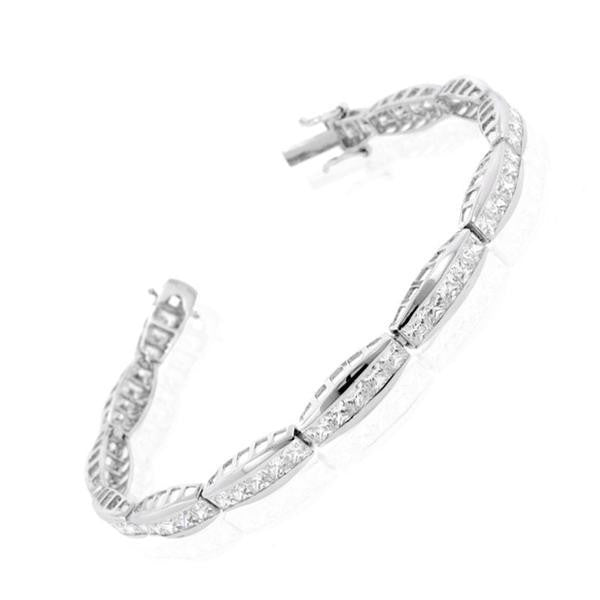 Channel Tennis Bracelet