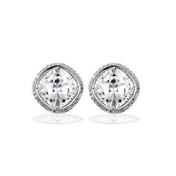 12ct Pavé Cushion Cut Stud Earrings