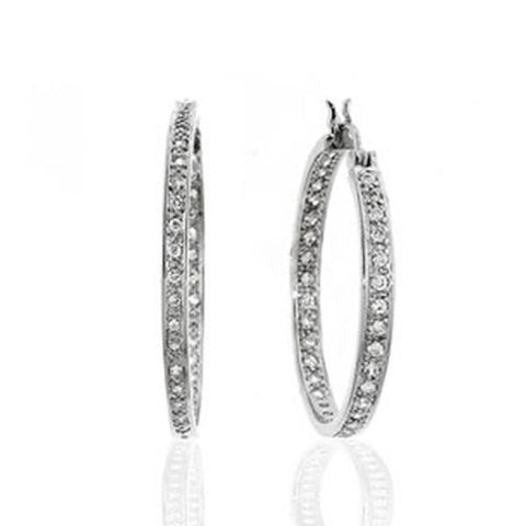 Small Pavé Hoop Earrings