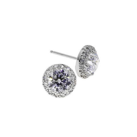 2.5ct Round Pavé Stud Earrings