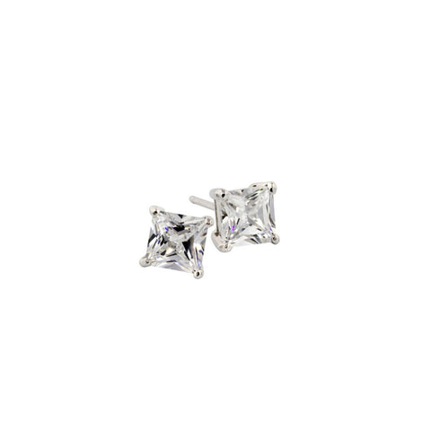 2.5ct Princess Cut Stud Earrings