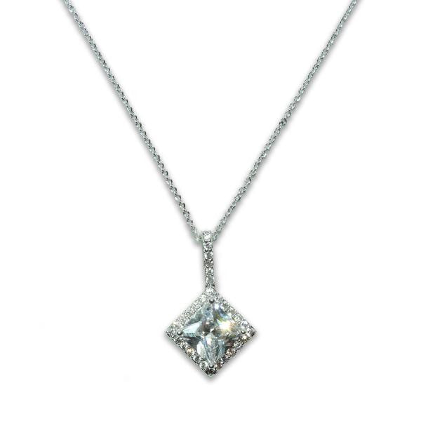 Princess Cut Pendant Necklace