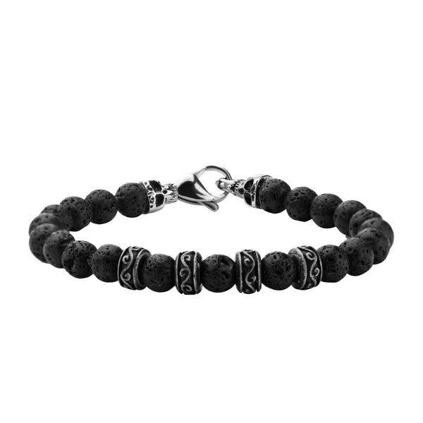 8mm Black Lava Bead Bracelet