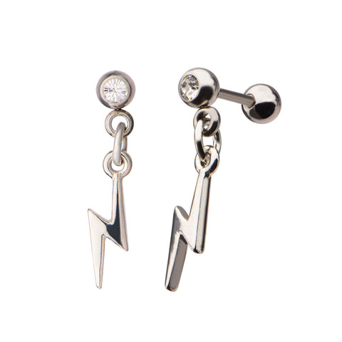 Lightning Bolt Cartilage Earrings
