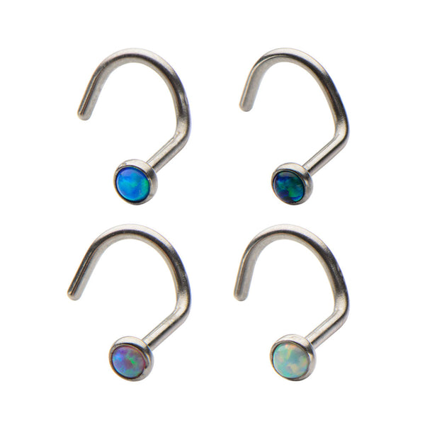2mm Synthetic Opal Nose Screw
