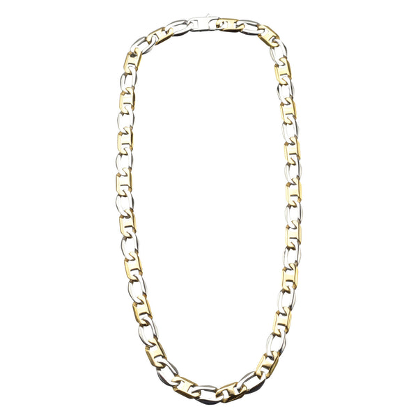 11mm IP Gold Flat Mariner Link Chain