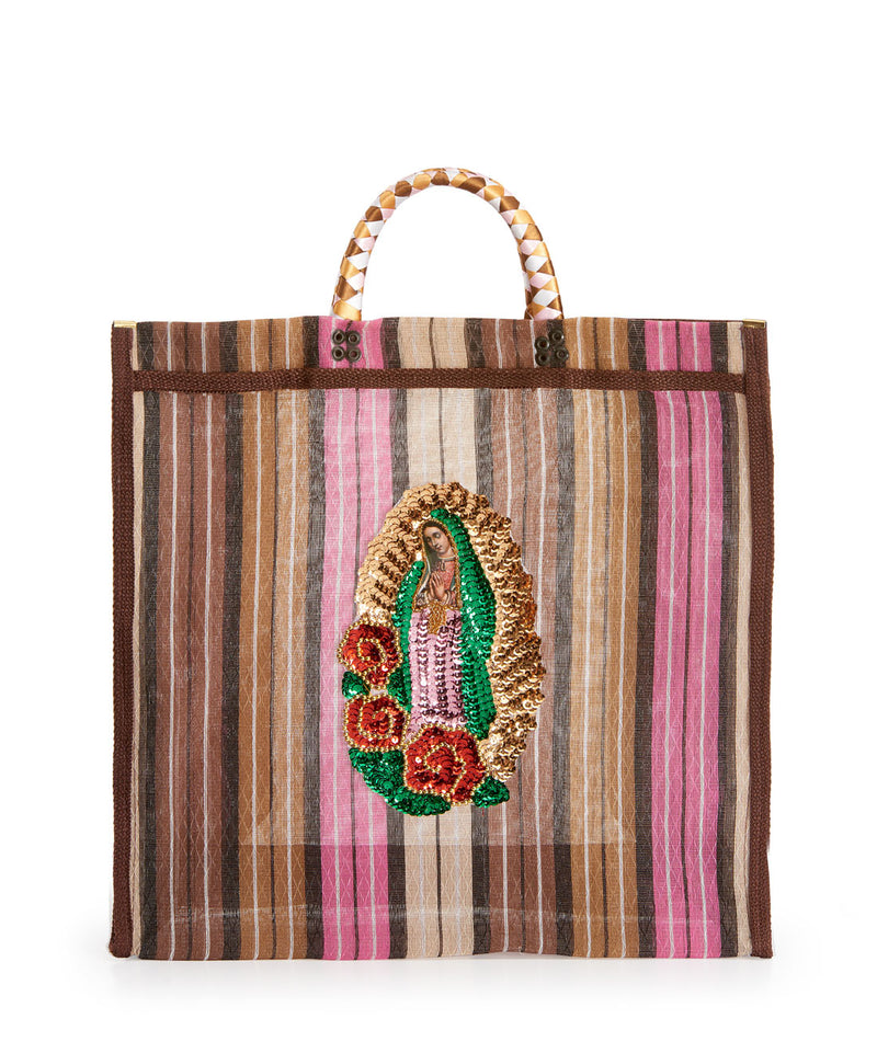 Ensenada Market Bag model Amor y Mezcal