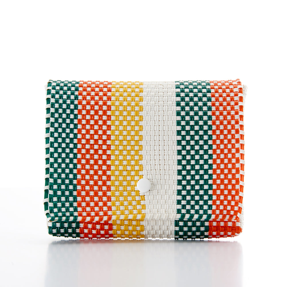 Clutch bag Baby Pochette green orange yellow Amor y Mezcal