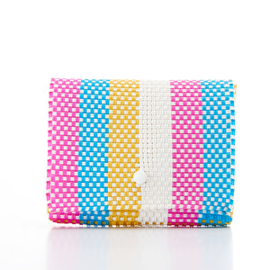 Clutch bag Baby Pochette pink torquoise yellow Amor y Mezcal