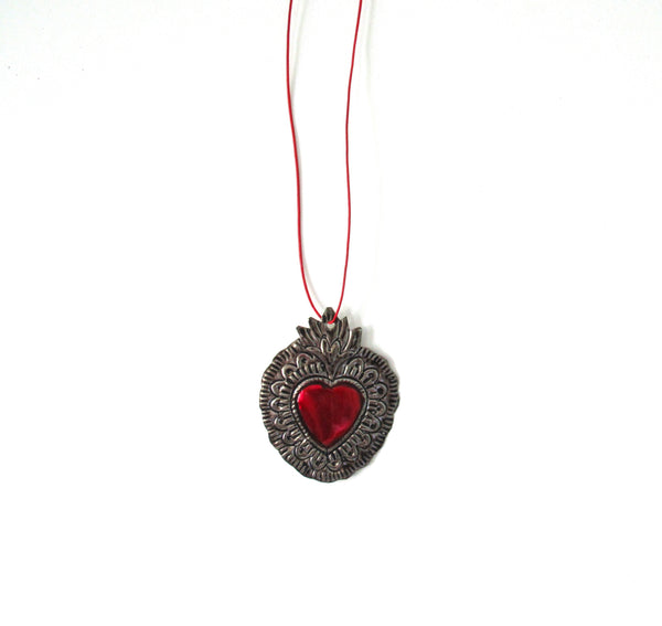 Sacred Heart Necklace, model 2