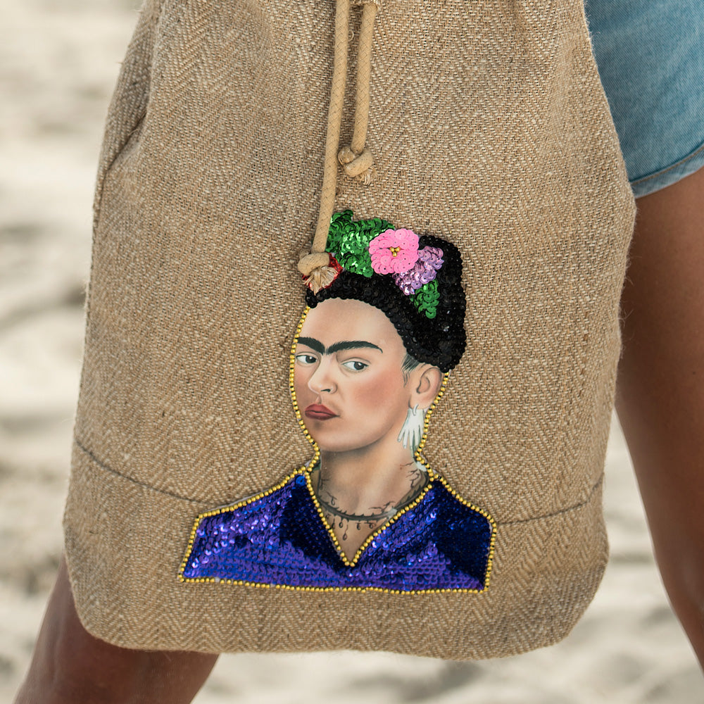 Frida Backpack detail Amor y Mezcal