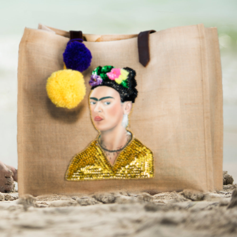 Frida Shopping bag detail Amor y Mezcal