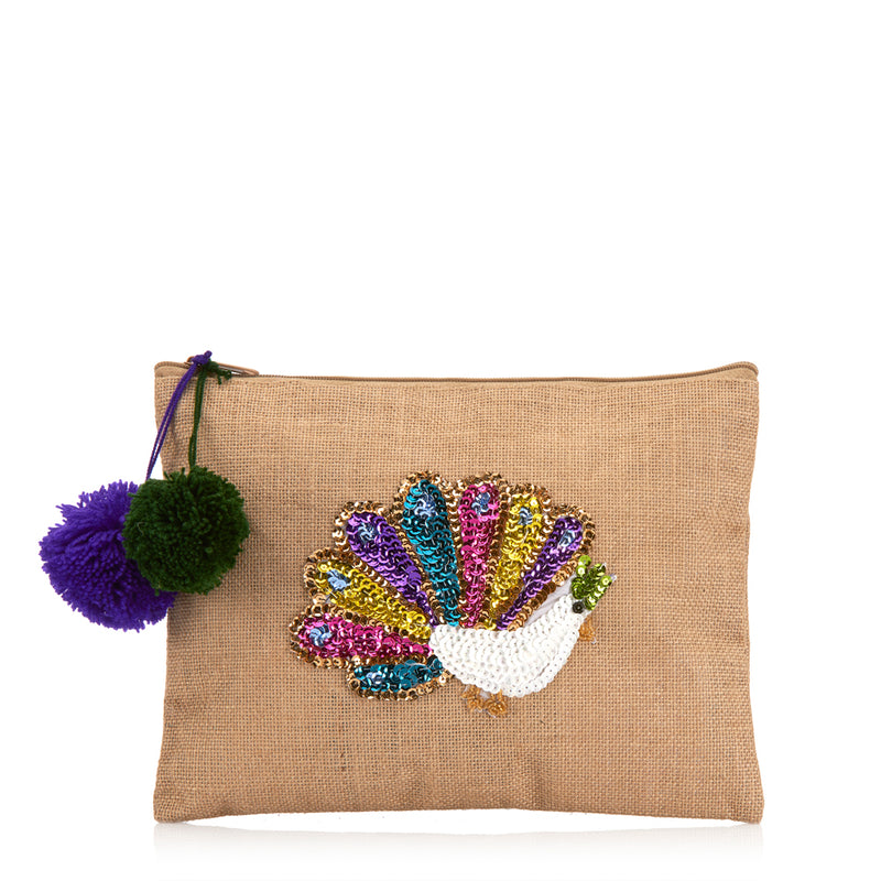 Clutch bag Peacock Pochette rear Amor y Mezcal