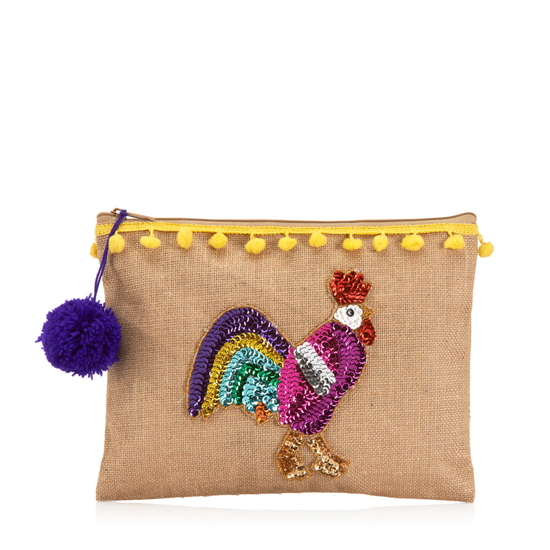 Clutch bag Rooster Pochette rear Amor y Mezcal