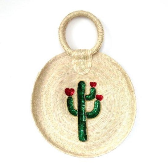 Cactus love circle bag