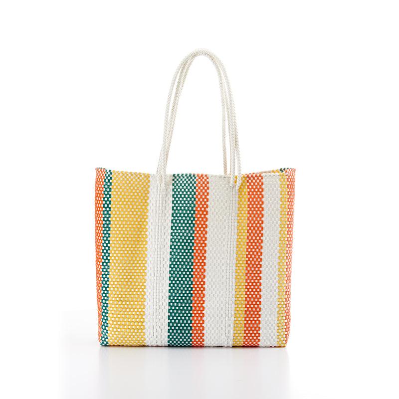Shopping bag pink torquoise yellow Amor y Mezcal