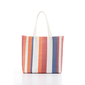 Shopping bag red blue orange Amor y Mezcal