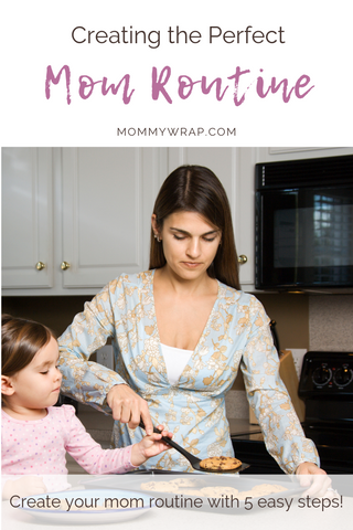 Hey Momma!  I see you struggling to find balance with all of your to-dos.  I also see the overwhelm that you are experiencing.  It is time to bring balance to your life with a routine that is designed perfectly to you.  Find out how to build your mom routine in 5 easy steps!  #momroutine #selfcareformom #motherhood