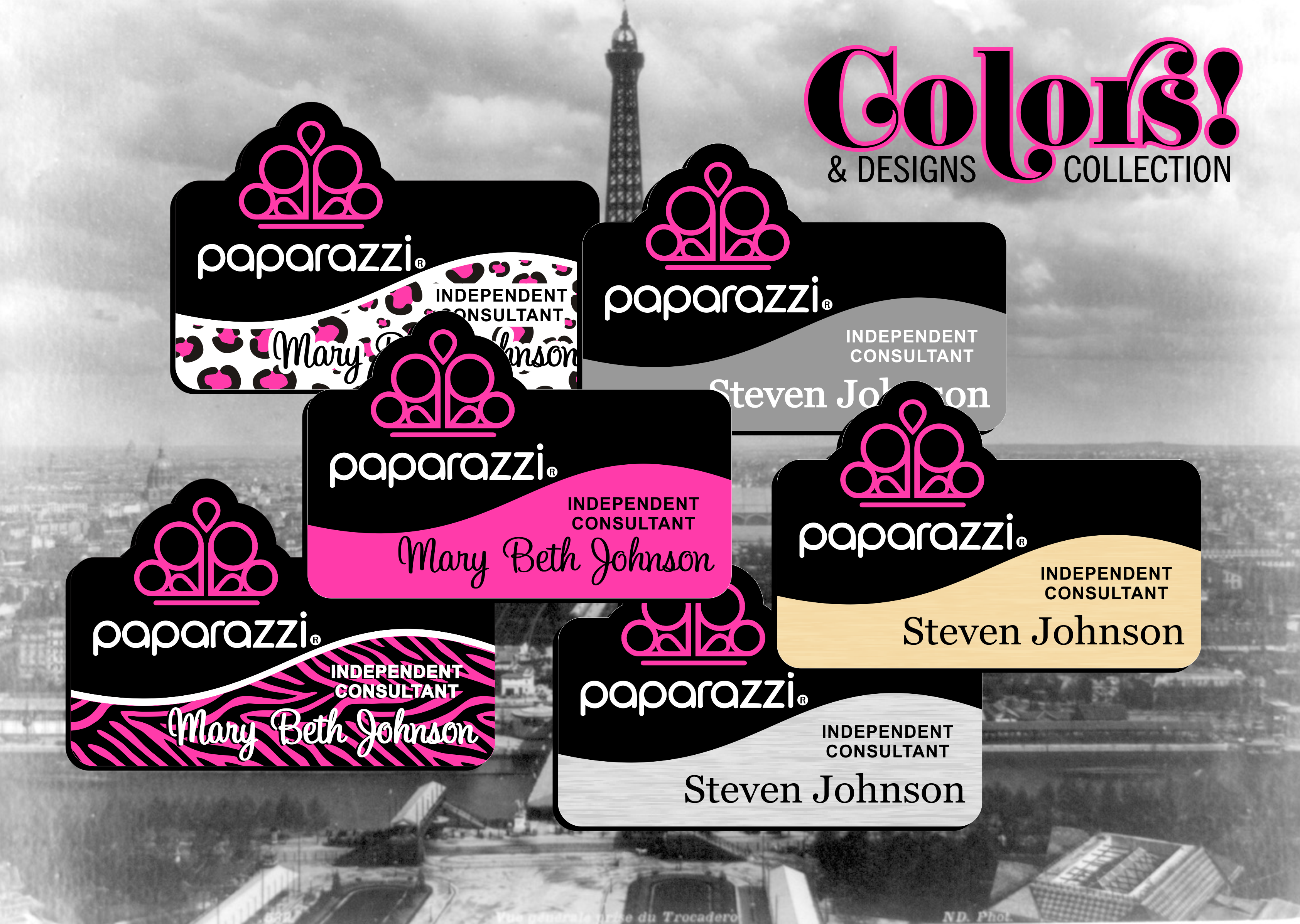 Paparazzi Name Badges - Colors & Designs Collection
