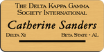 Load image into Gallery viewer, The Delta Kappa Gamma Society International Name Badge - Gold w/ Black Letters
