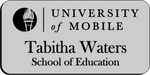 Load image into Gallery viewer, University of Mobile (School of Education) - Silver w/ Black