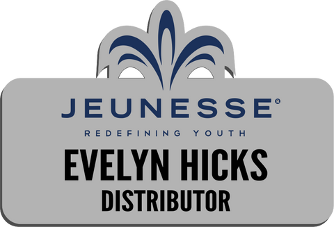 Jeunesse Name Badge - Silver w/ Color