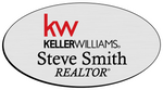 Load image into Gallery viewer, Keller Williams Name Badge - OVAL Silver w/ Color